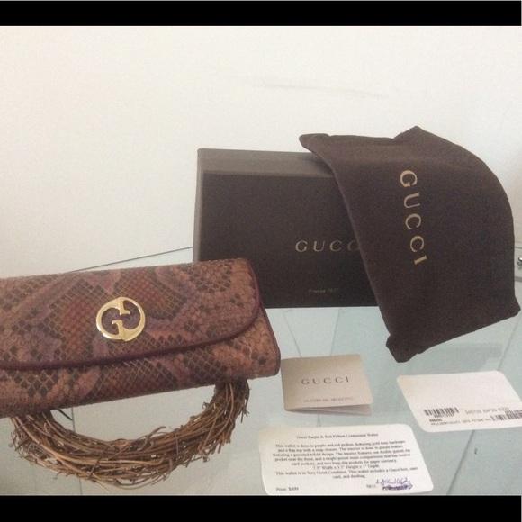 6bbd20fdd3f4 Gucci Bags | Hp Purple Red Python Continental Wallet | Poshmark